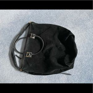 DVF Black Suede Hobo